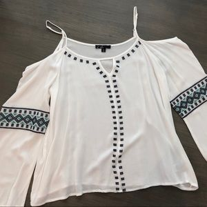 C. Luce Cold Shoulder Blouse